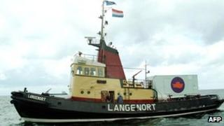 File picture (2003) of the Dutch ship Langenort belonging to the Dutch foundation Women on Waves
