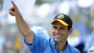 Henrique Capriles on the campaign trail