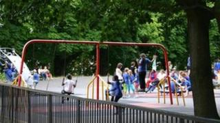 children playing in a park