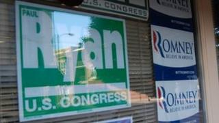 Election posters in Janesville