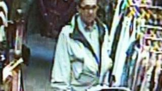 CCTV of the man in the store in Ormskirk