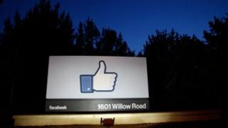 Like logo at Facebook headquarters