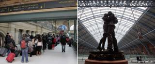 Interiors of Gare du Nord and St Pancras