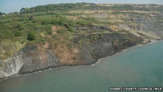 Landslip at Black Ven, between Lyme Regis and Charmouth