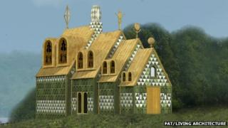 Artist's impression of the Grayson Perry/FAT house in Wrabness, Essex