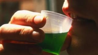 Patient drinking methadone