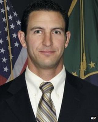 Undated photo of US Border Patrol agent Nicholas Ivie