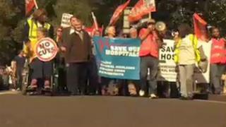 Protesters at Charing Cross march