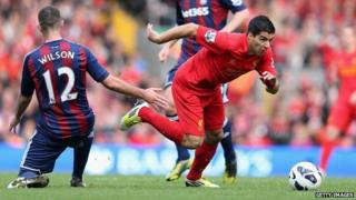Luis Suarez against Stoke City