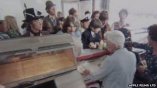 Unseen footage from The Beatles Magical Mystery Tour