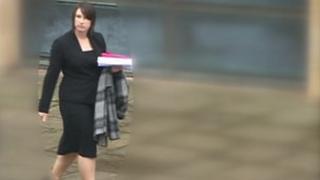 Gillian Blackmore arriving at court