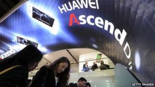 Huawei stand at mobile communications show