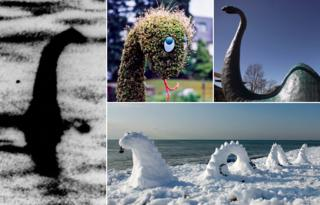 Various images of the Loch Ness monster