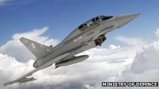 RAF's advanced Typhoon fighter jet