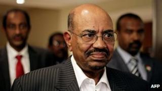 Sudan's President Omar al-Bashir in a hotel in Addis Ababa on September 24, 2012
