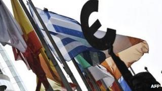 EU flags in Brussels - file pic