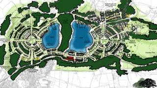 Artist's impression of the proposed Margam development