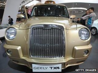 Manganese Bronze's TX4 taxi on show