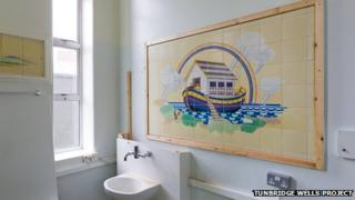 The Noah's Ark tiles in the Kent and Sussex Hospital, Tunbridge Wells, courtesy of the Tunbridge Wells Project