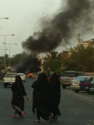 Bahrain unrest. Pic by Frank Gardner