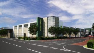 An artist's impression of how the new Morrisons supermarket would look at the Black Bourton Road site in Carterton