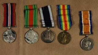 Medals found in Lowestoft