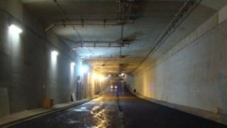 The second tunnel before it was completed and open to the public