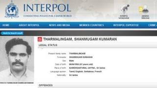 "Interpol ""wanted"" notice for Selvarasa Pathmanathan"