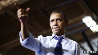 President Barack Obama in Mount Vernon, Iowa 17 October 2012