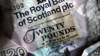 A RBS £20 notes