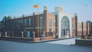 Artist's impression of the new temple