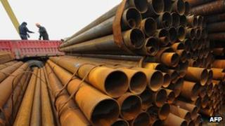 Steel pipes in China