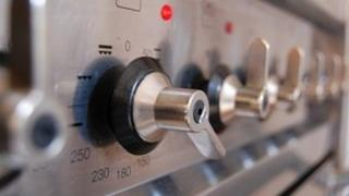 Knobs on a gas cooker