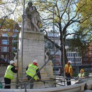 William Shakespeare's statue in Leicester Square