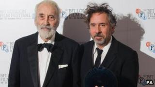 Tim Burton (right) with Sir Christoper Lee