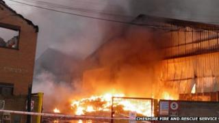 Widnes warehouse fire