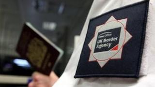 A UKBA officer