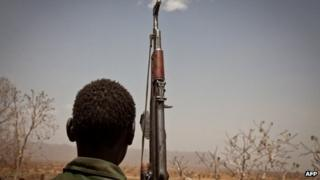 An SPLM-North rebel soldier. File photo