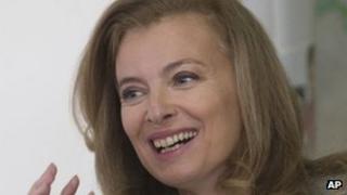 Valerie Trierweiler, partner of France's President Francois Hollande