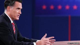 Republican presidential nominee Mitt Romney in Boca Raton, Florida 23 October 2012
