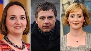 Kate Crockett, Dylan Jones a Gwenllian Grigg fydd prif gyflwynwyr Post Cyntaf