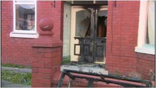 Scene of arson attack on Lune Grove