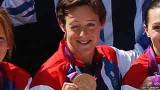 Hannah Macleod celebrates at London 2012