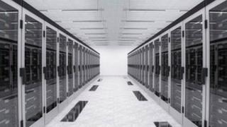 A row of servers