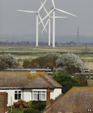 Wind turbines in Kent