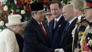 Susilo Bambang Yudhoyono welcomed on state visit to UK