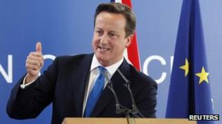 UK PM David Cameron in Brussels. File photo