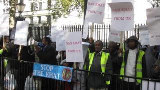 Anti-khat demonstrators