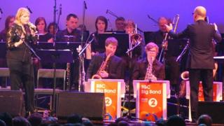Clare Teal and the big band in Leeds Town Hall
