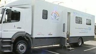 NHS Gloucestershire's mobile chemotherapy unit